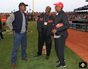 San Francisco Giants, S.F. Giants, photo, 2014, Rich Murray, Jeffrey Leonard and Keena Turner